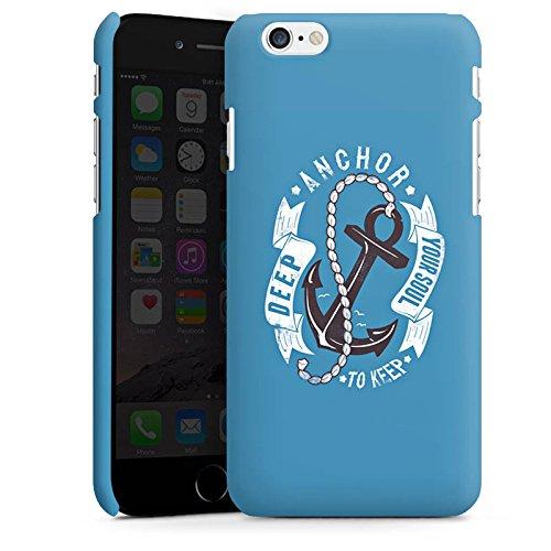 Apple iPhone X Silikon Hülle Case Schutzhülle Anker Seefahrer Maritim Premium Case matt