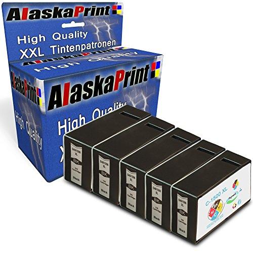 Preisvergleich Produktbild Alaskaprint 5 Druckerpatronen kompatibel für Canon PGI-1500XL Black für Canon Maxify MB 2000 Series 2050 2300 Series 2350