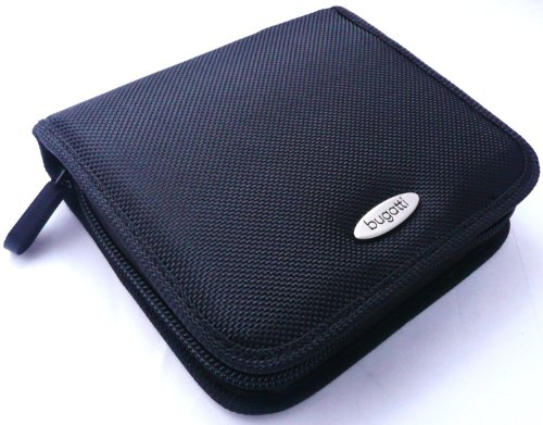 original-bugatti-black-nylon-soft-zip-case-cover-pouch-size-medium-bulk-pack-suitable-for-samsung-wb