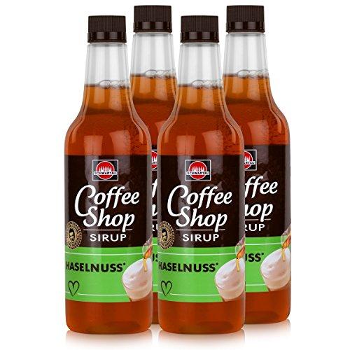 Schwartau Coffee Shop Sirup Haselnuss 650ml - Verfeinert ihren Kaffee (4er Pack)