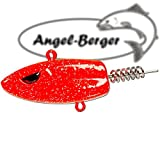 Angel Berger Norwegen Big Screw Jighead Jigkopf (Neon Red, 100g)