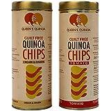 Queens Quinoa People's Favourite Original, Flavoured Quinoa Chips - Combo Pack (1 pcs Tomato and 1 pcs Cream & Onion)