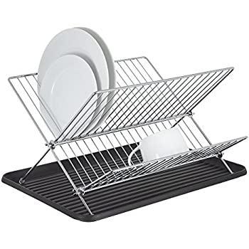 Dish Drying Rack By Homiso With Drip Tray Collapsible