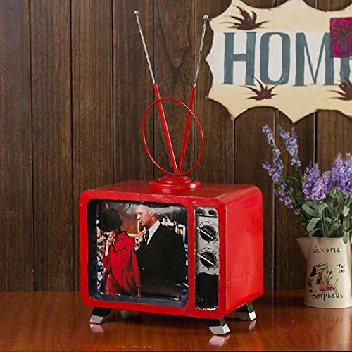 MEIDI Home Retro-TV-Modell Ornamente Kunstwerk TV-Requisiten Kinderbekleidung Shop Fensterdekorationen