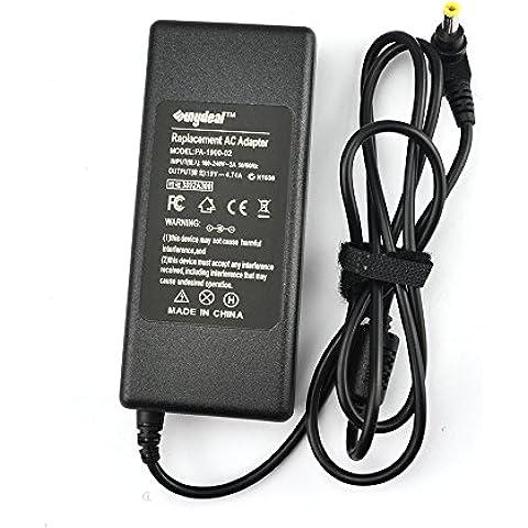 Sunydeal WP227-f8 - Adaptador de AC de repuesto PA-1900-02 (4.74 A, 19 V), negro