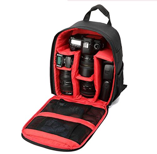 freedom-vp Rucksack Nylon wasserdicht DSLR Handy leicht Langlebig Tasche für Kamera Canon Nikon Sony Rot
