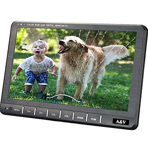 """A&V 9 """"Portable HD Freeview Digital-TV mit HDMI-Port, DVB-T / DVB-T2 H.264 / H.265 Tuner- HD Antenne für Küche, Dorf, Wohnmobil, Krankenhaus, Pflegeheime, Schlafzimmer ..."""