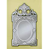 Venetian Image Decorative Wall Mirror For Living Room Entrance Makeup Bathroom | Mirror Glass Stylish Frame | Silver