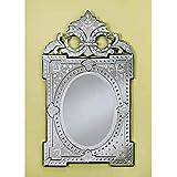Venetian ImageDecorative Wall Mirror For Living Room Entrance Makeup Bathroom | Mirror Glass Stylish Frame | Silver