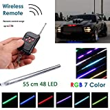 WIVION Auto Strobe-Beleuchtungsstreifen-Kit, Knight Night Rider Light Bar 7 Farbe 147 Modi 48 -LED-RGB-LED-Blitzlichtblinker-Beleuchtungsstreifen-Kit 12 V