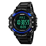 Jelercy Mens Digital Waterproof Sports Watches with Monitor of Heart Rate,Foot Pod and Calories Tracking