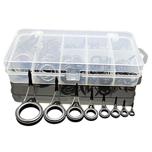 Rutenringe-Set, verschiedene Größen, Reparatur-Set, für Angelrute, Angeln, 75-teiliges Set (Angelrute Reparatur)