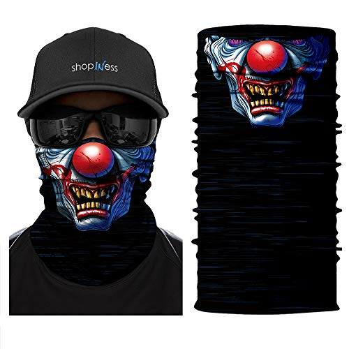 ShopINess Pañuelo Braga Multifunción - Calavera Clown