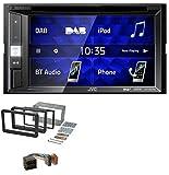 caraudio24 JVC KW-V255DBT Bluetooth USB DAB DVD 2DIN MP3 Autoradio für Alfa Romeo 159 Spider Brera ab 05 Navi