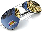 Vintage Retro Original Aviator Mirrored Mirror lens Polarized Sunglasses Glasses Air Force Unisex Vintage lens UV400 MFAZ Morefaz Ltd