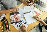 ARTEZA Blocco da Disegno Professionale 20,3x25,4 cm, Album Spiralato da 50 Fogli 130g/m², Set da 2 Pezzi, Carta Bianca