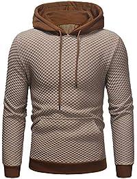 Sudaderas Hombre Baratas ZARLLE Sudadera con capucha para hombre patchwork Tops chaqueta abrigo ropa Hombres Invierno
