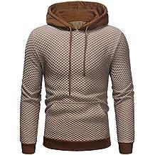 d15549b409e Sudaderas Hombre Baratas ZARLLE Sudadera con capucha para hombre patchwork  Tops chaqueta abrigo ropa Hombres Invierno
