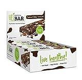 HEJ Protein Bar - Protein-Riegel ohne Zuckerzusatz - Eiweiß-Riegel Low Carb - Fitness Riegel Protein - Geschmack Cookies & Milk - 12er Pack (12 x 60g)