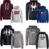 JACK & JONES Kapuzenpullover 2er Pack Hoodie Sweat Shirt Herren Baumwollmix S M L XL XXL (S, 2er Paket @ 20)