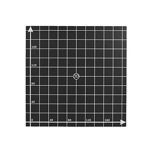 Entweg foglio 220 * 220mm caldaia per letto riscaldante foglio caldo piattaforma costruisci nastro di superficie con coordinate 1: 1 per stampante 3d anet a6 / a8