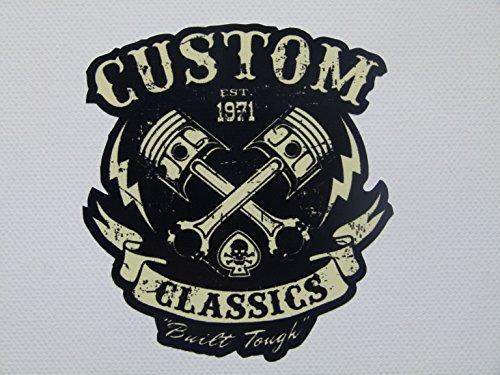 MG010 / Aufkleber 8x9cm Anarchy Custom Classic V2 Chopper Biker Old School Vintage Rockabilly (Aufkleber Custom)