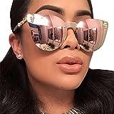 Mode Sonnenbrille FORH Klassische Aviator Aviator Sonnenbrille Damen Herren Unisex Runde Polarisierte Überziehbrille Sonnenbrille für Fahren, Golf, Angeln, Outdoor Sport (G)