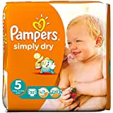 Pampers Simply Dry Taille 5 Junior 11-25kg (32) - Paquet de 6