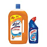 #5: Lizol Disinfectant Floor Cleaner Sandal - 975 ml with Free Harpic Power Plus Toilet Cleaner- 200 ml (Any Variant)