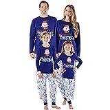 Riou Weihnachten Set Baby Kleidung Pullover Pyjama Outfits Set Familie Frohe Weihnachts kostüme Junge Mädchen Xmas Santa Schlafanzug Nachtwäsche Familien Pyjamas Set (S, Dad)
