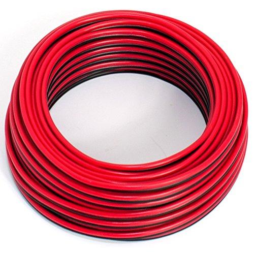 Cavo per altoparlante, 2 x 0,50 mm2, cavo audio 0,50mm2-10m rosso/nero