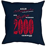 Goodman Design ® Kissenbezug, Kissenhülle, Bezug für Kissen zum Geburtstag - Lieblingsmenschen. die Besten wurden 2000 geboren!
