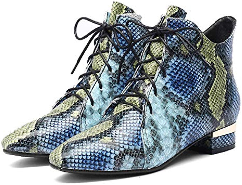WANG-LONG Scarpe da Donna Martin Moda in Pelle Stivaletti Comodi Autunno Inverno Caldo E Traspirante Antiscivolo... | Più economico  | Maschio/Ragazze Scarpa