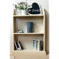 Shabby chic free-standing bookcase, cream, 6 sizes available