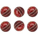Tima Leather Cricket Ball Set Of 6Pcs