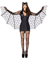 Sexy Womens Ladies Bat Fancy Dress Halloween Costume Adult Outfit