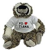 Bradypus de peluche con Amo Tiana en la camiseta (ciudad / asentamiento)
