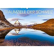 TRAUMZIELE DER SCHWEIZ Impressionen (Wandkalender 2019 DIN A2 quer): Die Schweiz in faszinierenden Aufnahmen. (Monatskalender, 14 Seiten ) (CALVENDO Orte)