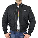 Alpha Industries Herren Piloten Jacke Engine black - L