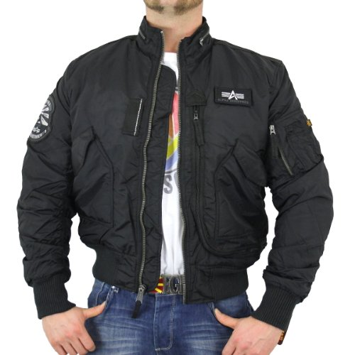 Alpha Industries Herren Piloten Jacke Engine black - M