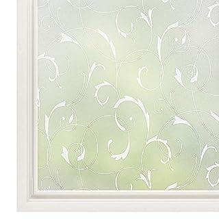 rabbitgoo Statische Fensterfolie blickdicht Sichtschutzfolie selbsthaftend Milchglasfolie Sichtschutz Folie Dekofolie Anti-UV 90 x 200 cm (Ideal für das Bad)