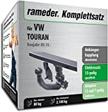 Rameder Komplettsatz, Anhängerkupplung abnehmbar + 13pol Elektrik für VW TOURAN (150664-14158-1)