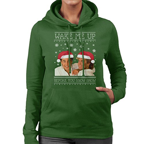Women's Hooded Sweatshirt Wake Me Up Before You Snow Snow Wham Christmas Knit
