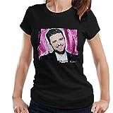 Photo de Sidney Maurer Original Portrait of Justin Timberlake Smile Women's T-Shirt par Sidney Maurer