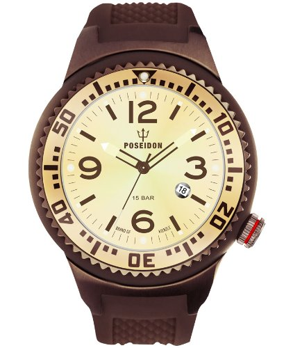 Kienzle Men's Quartz Watch POSEIDON XL Slim K2031069293-00392 with Rubber Strap