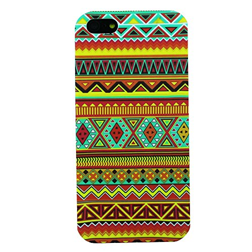 Heartly Aztec Tribal Art Printed Design Retro Color Armor Hard Bumper Back Case Cover For Apple iPhone 5 5S 5G / Apple iPhone SE - Vintage Orange  available at amazon for Rs.219