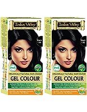 Indus Valley Herbal Natural Gel Hair Color Black 100 Pack o