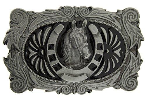 Western Horse & Shoe Gürtelschnalle in einer meiner (Gürtelschnalle Western)