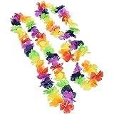 Hawaii-Blütenketten, Set mit 4Stück