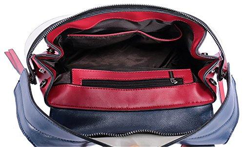 Xinmaoyuan Borse donna portatile cuciture in pelle nappa Borsa Ladies Leisure croce obliqua Package Rosso